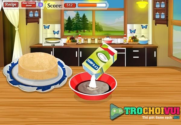 game Lam banh kem dau rung