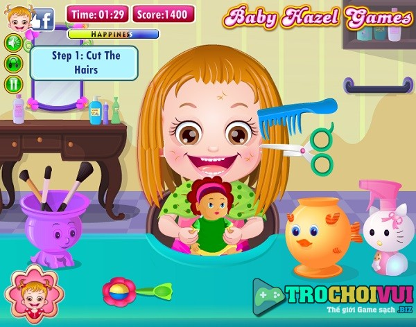 game Lam toc cho baby Hazel hair care