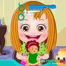 Làm tóc cho baby Hazel