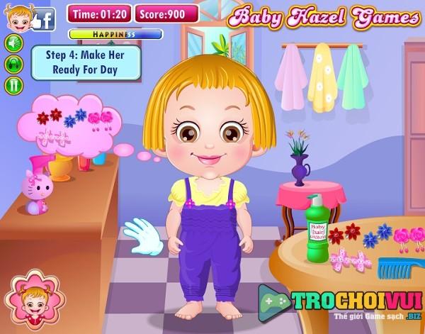 game Lam toc cho be gai baby Hazel