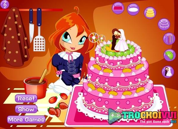 game Winx bloom lam banh kem