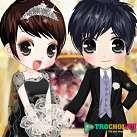 Cô dâu chú rể ngày cưới