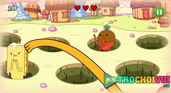 game Gio phieu luu nhung nguyen to Adventure time elemental