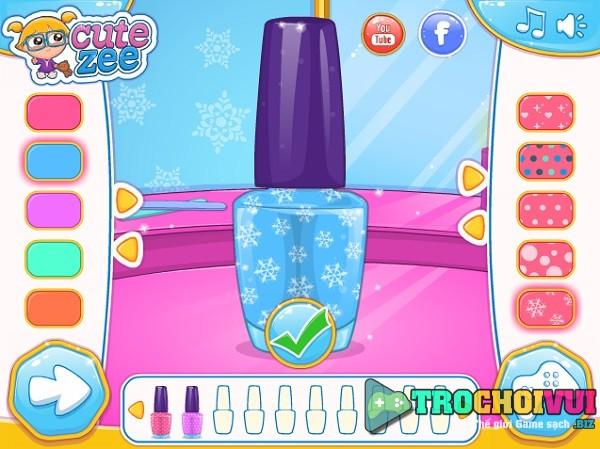 game Lam mong tay cho cong chua Elsa va Anna