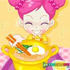 Nấu mì tôm trứng