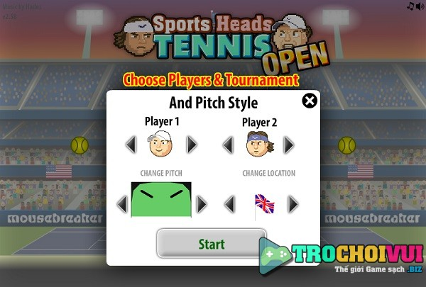 game Tennis bang dau to