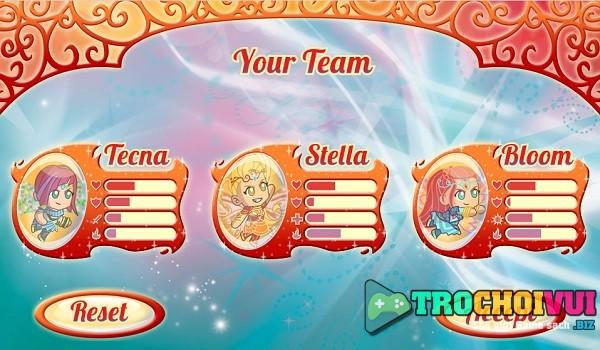 game Tran chien Winx club bloomix battle