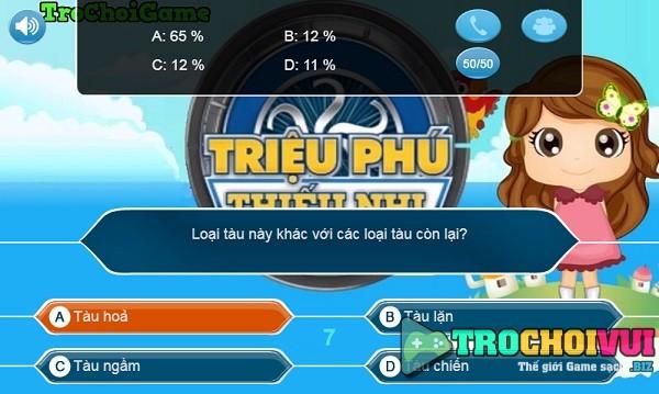 game Ai la trieu phu thieu nhi lop 1 2 3 4 5