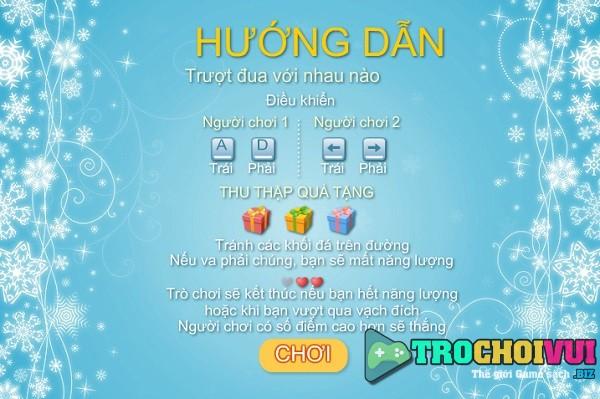 game Cun con truot tuyet 2 nguoi choi