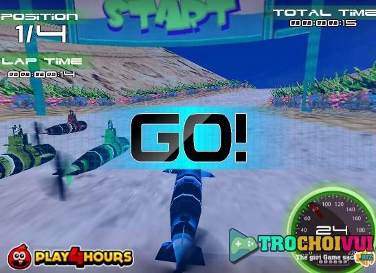 game Dua tau ngam submarine 3d racing