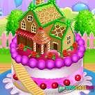Làm bánh sinh nhật ngôi nhà