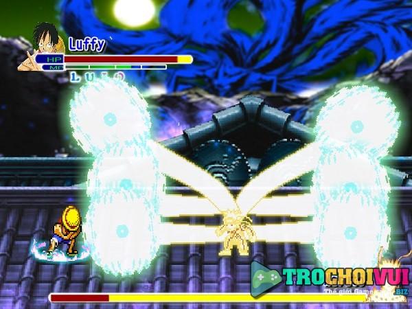 game Luffy vs Naruto danh nhau doi khang