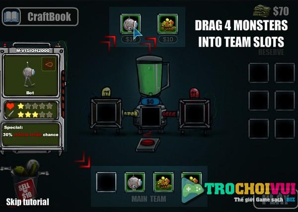 game Quai vat chien dau monster craft online