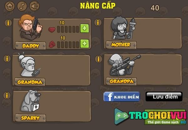 game Biet doi ban thay ma quai vat zombie