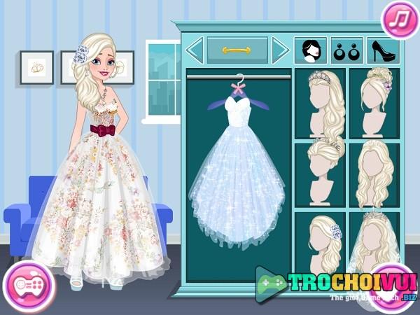 game Dam cuoi cua cong chua Elsa va Anna