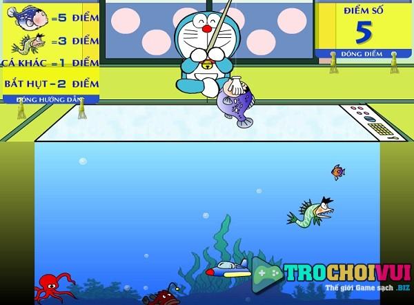 game Doremon cau ca online offline mien phi pc