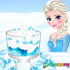 Elsa làm kem mùa đông