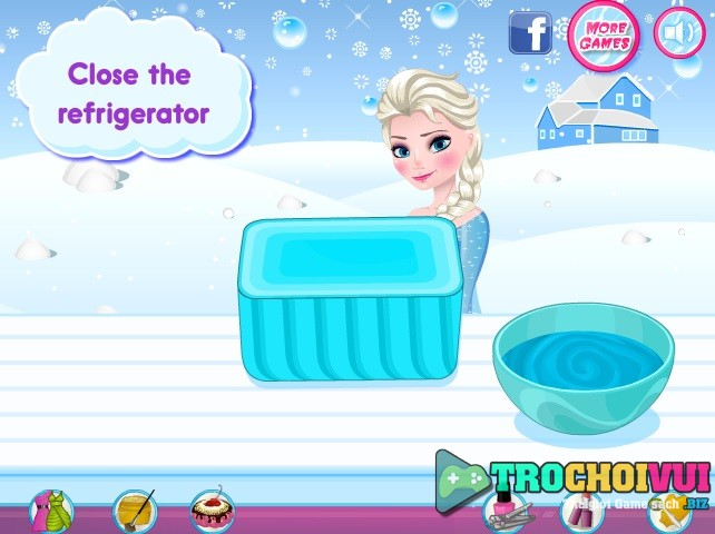 game Elsa lam kem tuoi mua dong