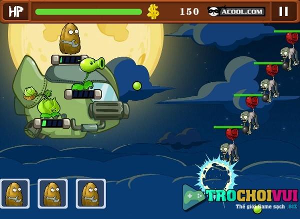 game Hoa qua noi gian plants vs zombies 4