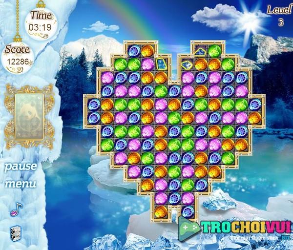 game Kim cuong nu hoang bang gia elsa frozen
