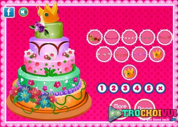 game Lam banh gato kem sinh nhat 5 tang