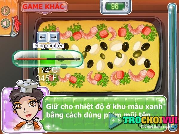game Lam banh pizza hai san tom ca hoi