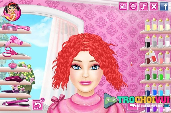 game Lam toc cho bup be Barbie game vui 24h y8