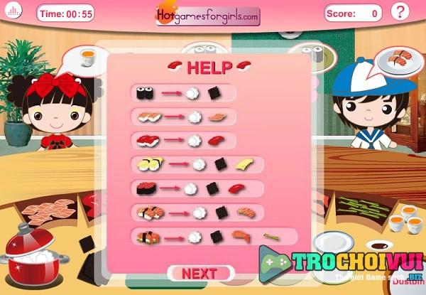 game Nha hang sushi ban ron hay nhat