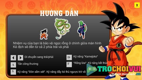 game Songoku bao ve ngoc rong than thieng