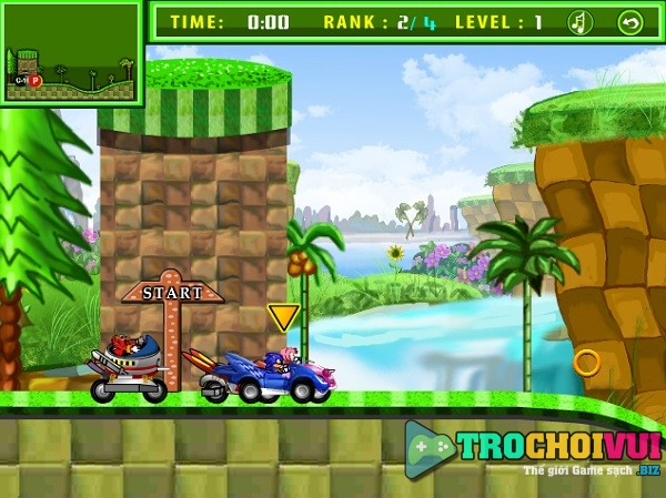 game Sonic dua xe oto mien phi