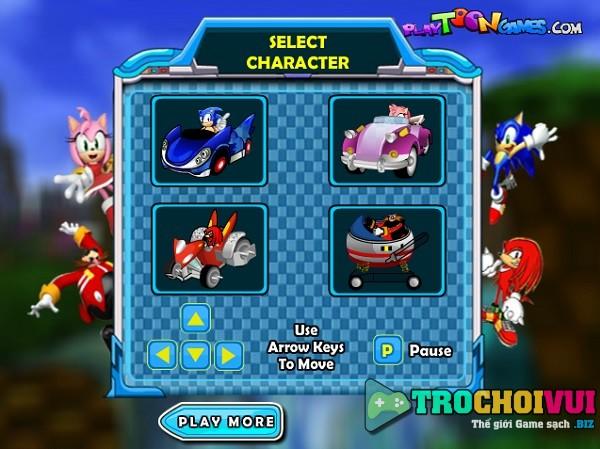 game Sonic dua xe vuot dia hinh