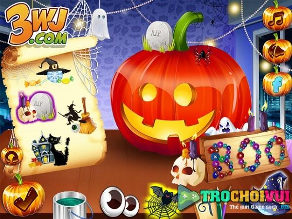 game Thu thach cong chua halloween hinh anh 1