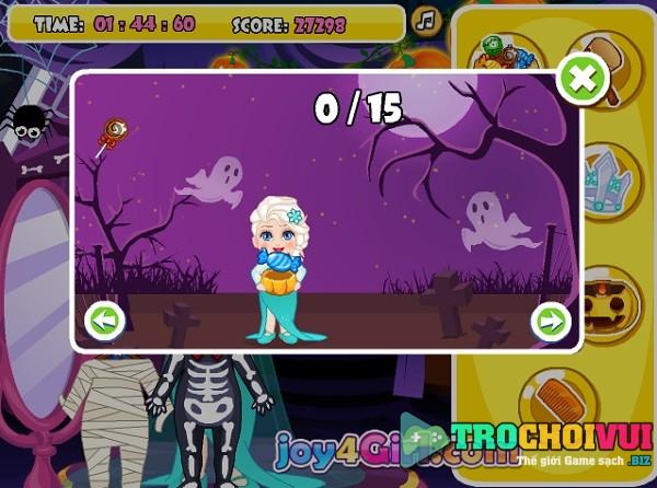 game cong chua bang gia Elsa giet thoi gian halloween