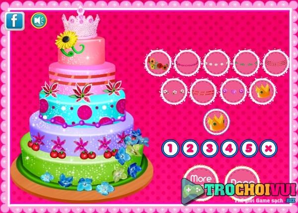 game nau an Lam banh sinh nhat 5 tang