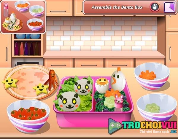 game nau an Lam com hop bento tinh yeu