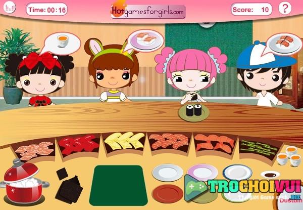 game nau an quan ly kinh doanh nha hang sushi ban ron