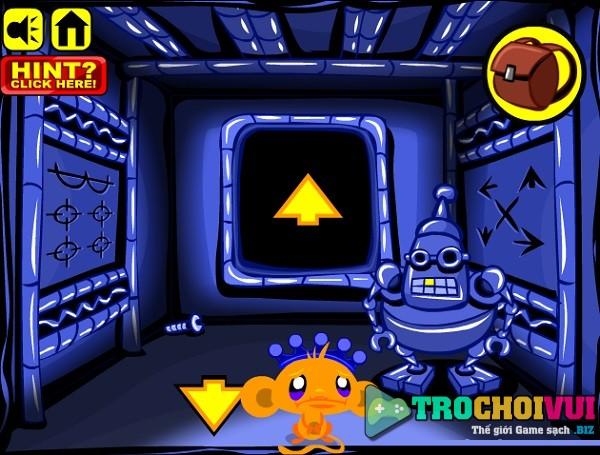 game Chu khi buon me cung giai cuu robot