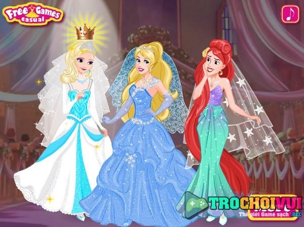 game Cong chua Disney mac vay cuoi hinh anh 3