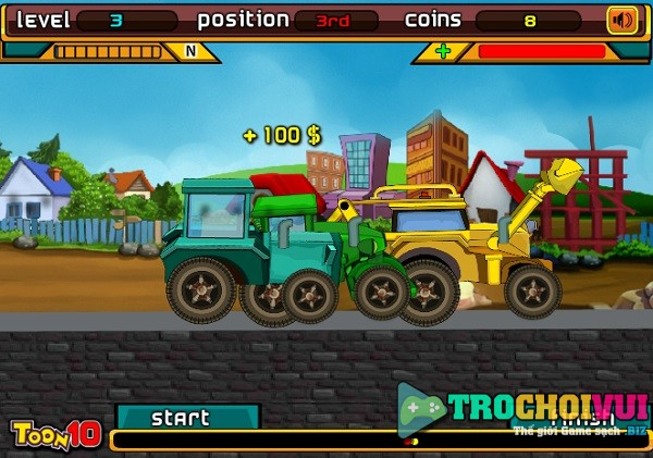 game Dua xe may cay nong trai