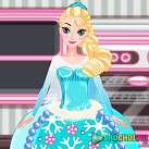 Làm bánh nữ hoàng băng giá Elsa