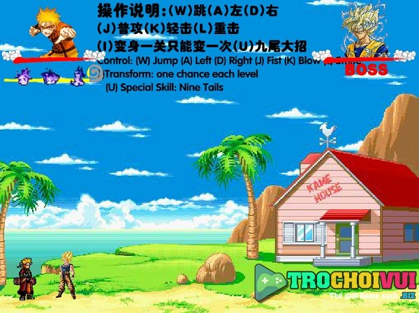 game Naruto dai chien Goku vegeta piccolo cell frieza broly