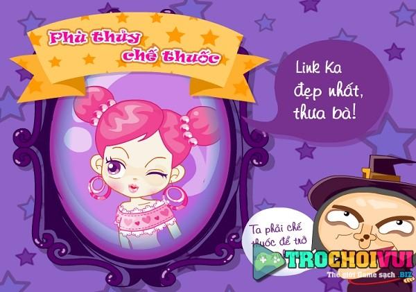 game Phu thuy che thuoc sac dep bien thanh cong chua