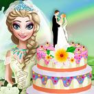 Elsa làm bánh cưới