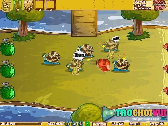 game Hoa qua phong thu 3 chien dau bao ve khu vuon