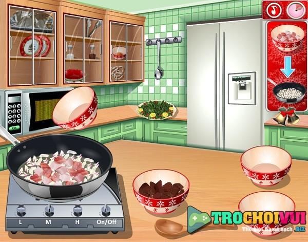 game Nau an thuc don mung giang sinh