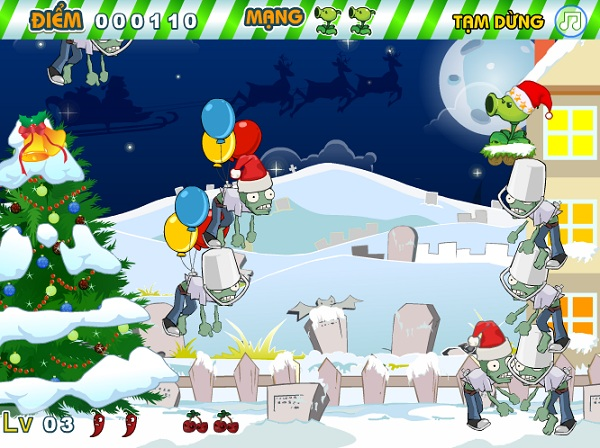 game Plants vs zombies giang sinh hinh anh 3