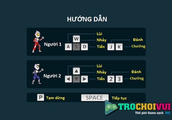 game Sieu nhan hanh dong 2 nguoi choi