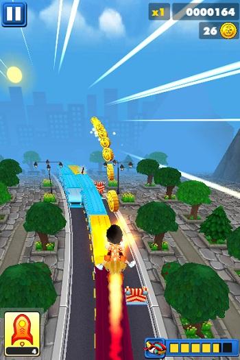 game Subway Surfers chay tron tren duong tau