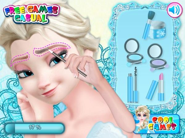 game Trang diem co dau Elsa hinh anh 2