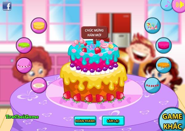 game nau an banh kem mung nam moi